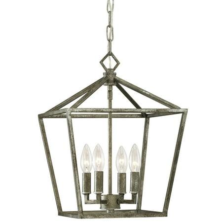 Allen Antique Lighting - Millennium Lighting 3234-AS Corona Pendant Light In Antique Silver