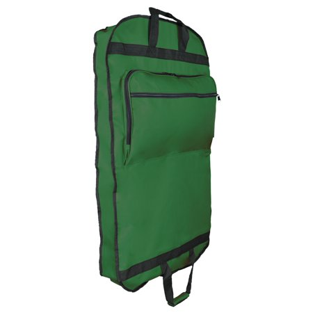Dalix 39 Business Garment Bag Cover For Suits And Dresses Clothing Foldable W Pockets In Dark Green