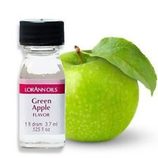 Lorann Oils Green Apple 1 Dram Super Strength Flavor Extract Candy Baking Includes 1 Dram Dropper And Recipe Card