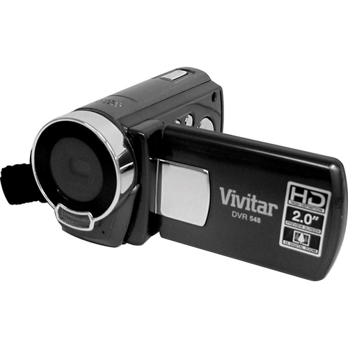 "Vivitar DVR548HD-BLACK Black 5.1MP HD Digital Camcorder, 2.0"" LCD Display"