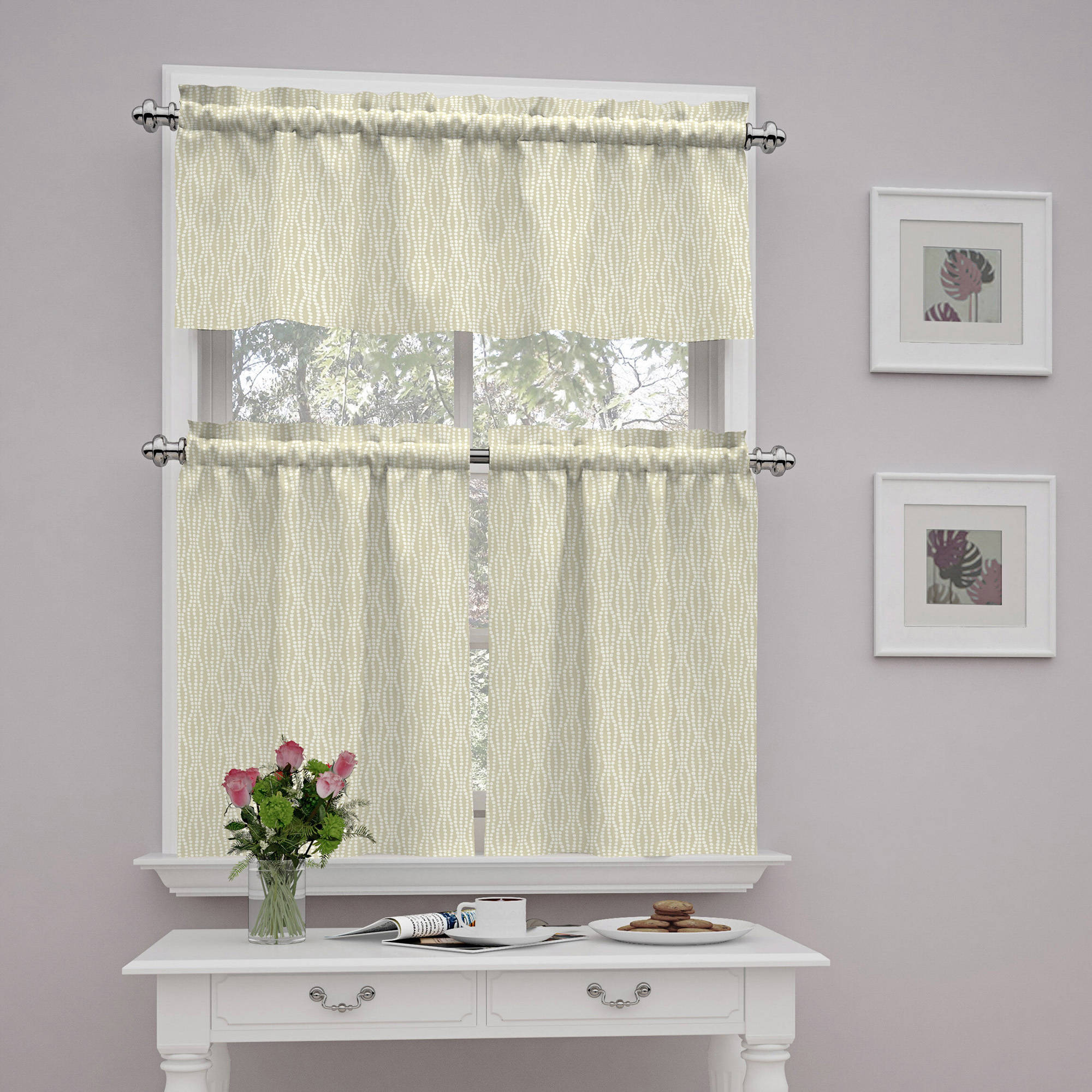 Traditions by Waverly Strands Tier and Valance