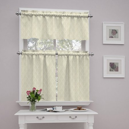 Traditions By Waverly Strands Kitchen Curtain And Valence