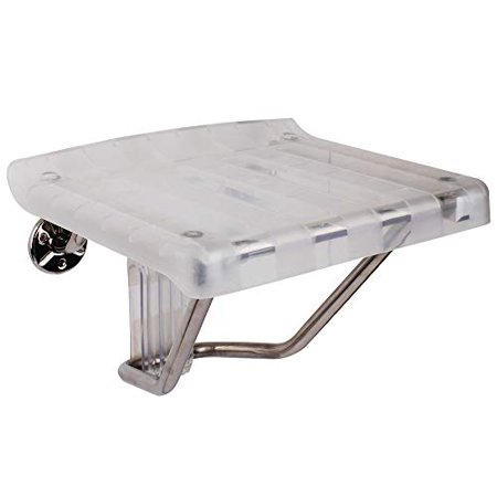 13.125 in. x 15 in. Plastic Folding Shower Seat in Chrome - image 1 of 1