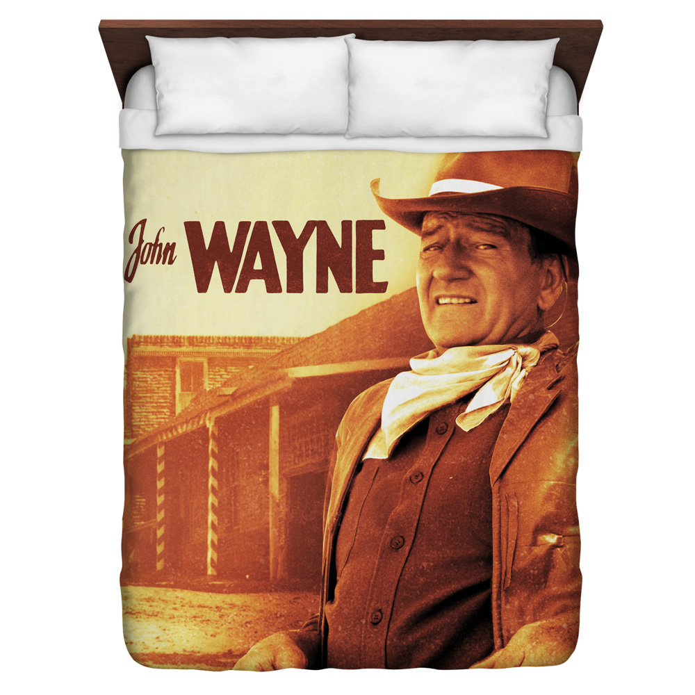 John Wayne Old West Queen Duvet Cover White 88X88