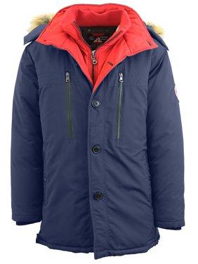 Men's Heavyweight Parka Jacket Coat With Detachable Hood