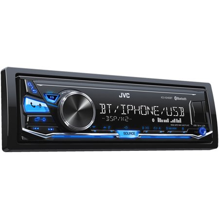 JVC Refurbished KD-X240BT Single DIN In-Dash Digital Media Car Stereo w/ Android & iPhone Compatibility
