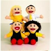Marvel Education Caucasian Family Puppet Set