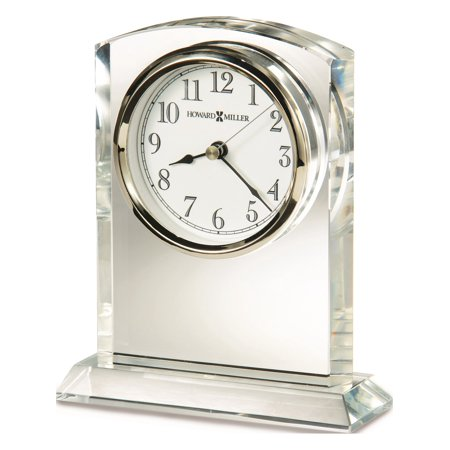 Flaire Arch Top Optical Crystal Table Clock Designer Jewelry by Sweet Pea ()