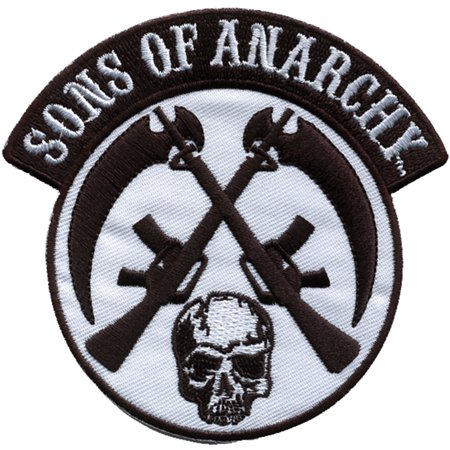 Sons Of Anarchy Patches (Sons Of Anarchy Men's SOA Crossed Skull & Gun Embroidered Patch)