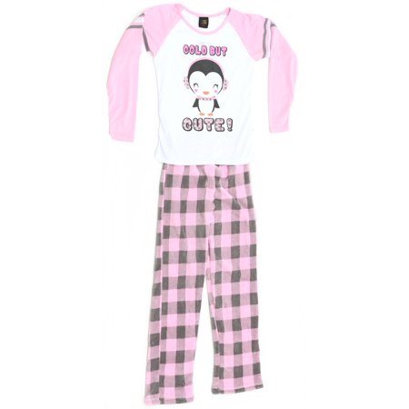 a2eb9882ee1d Just Love - Just Love Two Piece Girls Pajamas Set (Penguin   Plaid ...