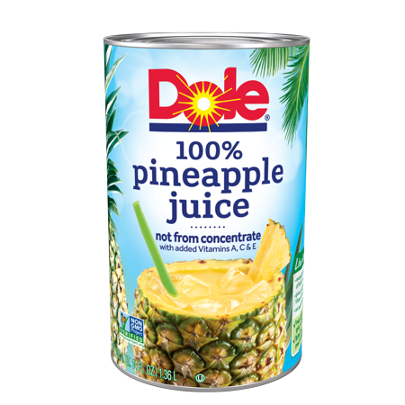 (4 pack) Dole 100% Pineapple Juice 46 fl. Oz Can](Halloween Punch Pineapple Juice)