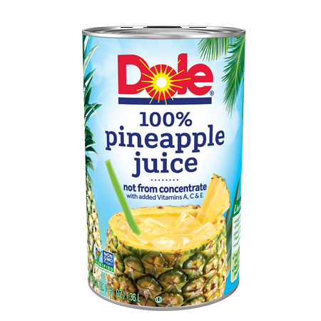 - (2 pack) Dole 100% Pineapple Juice 46 fl. Oz Can