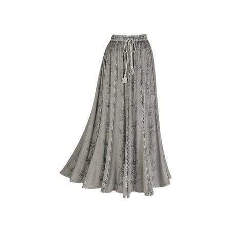 1bac52b1ba Catalog Classics - catalog classics women's over-dyed maxi skirt - elastic  waistband - 36