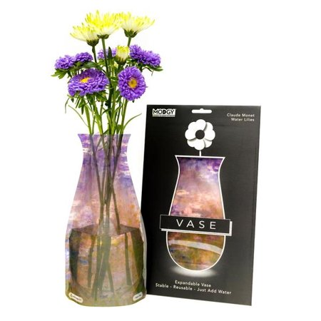 Modgy Collapsible & Expandable Vase, Claude Monet, Water Lilies - Halloween Water Lily Description