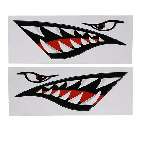 Yosoo Kayak Sticker 2pcs Waterproof Diy Funny Shark Teeth Mouth Sticker Decal Car Kayak Boat Truck Decoration Walmart Canada