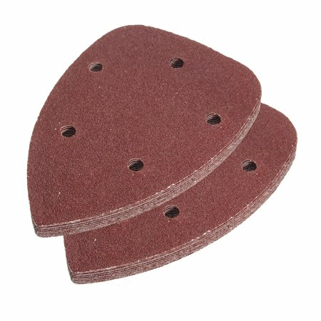 Grit Saphir Hook (10Pcs 80 Grit 5 Hole Mouse Sanding deltasandpaper Disc Detail Sandpaper Hook And Loop Abrasive Sanding Sheets)
