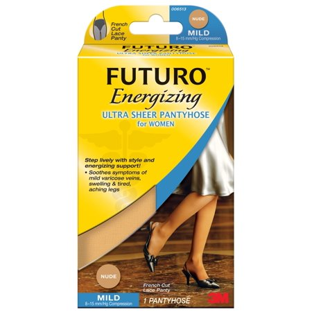 Futuro Support Hosiery Socks (FUTURO Ultra Sheer Pantyhose Women, Nude, Medium F Cut )