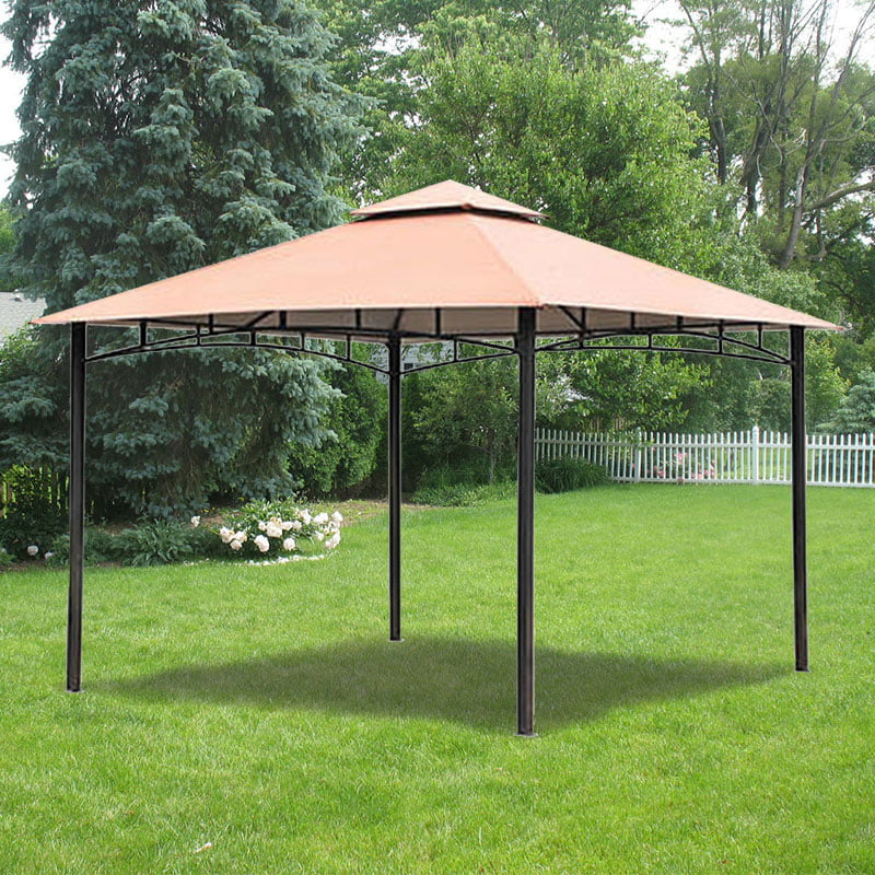 Garden Winds Replacement Canopy Top For Backyard Creations Metal Gazebo Riplock 350 Replacement Canopy Top Cover Only Metal Frame Not Included Walmart Com Walmart Com