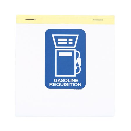 "3-Part Gasoline Requisition Book - 5 1/2""H x 4 1/4""W - Book of 25"