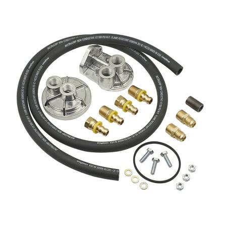 Mr. Gasket 7680 Engine Oil Filter Remote Mounting (Mr Gasket 1270 Oil Filter Conversion Kit)