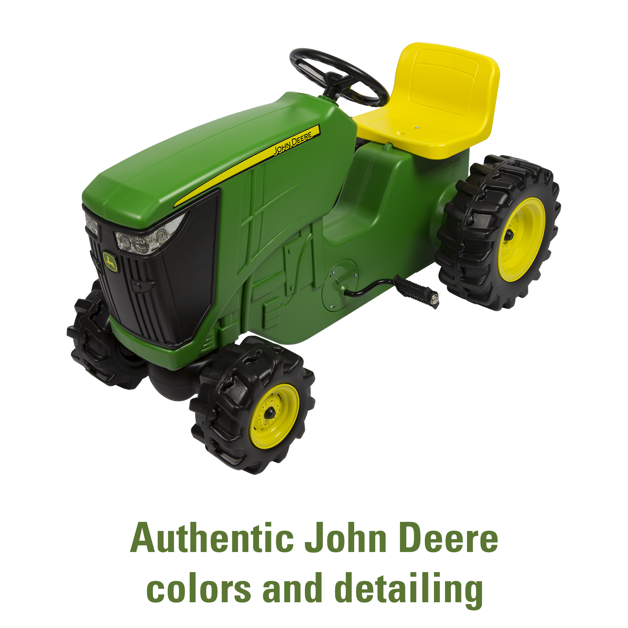 John Deere Pedal Powered Tractor, Kids Ride-On Toy Tractor, Green by TOMY International
