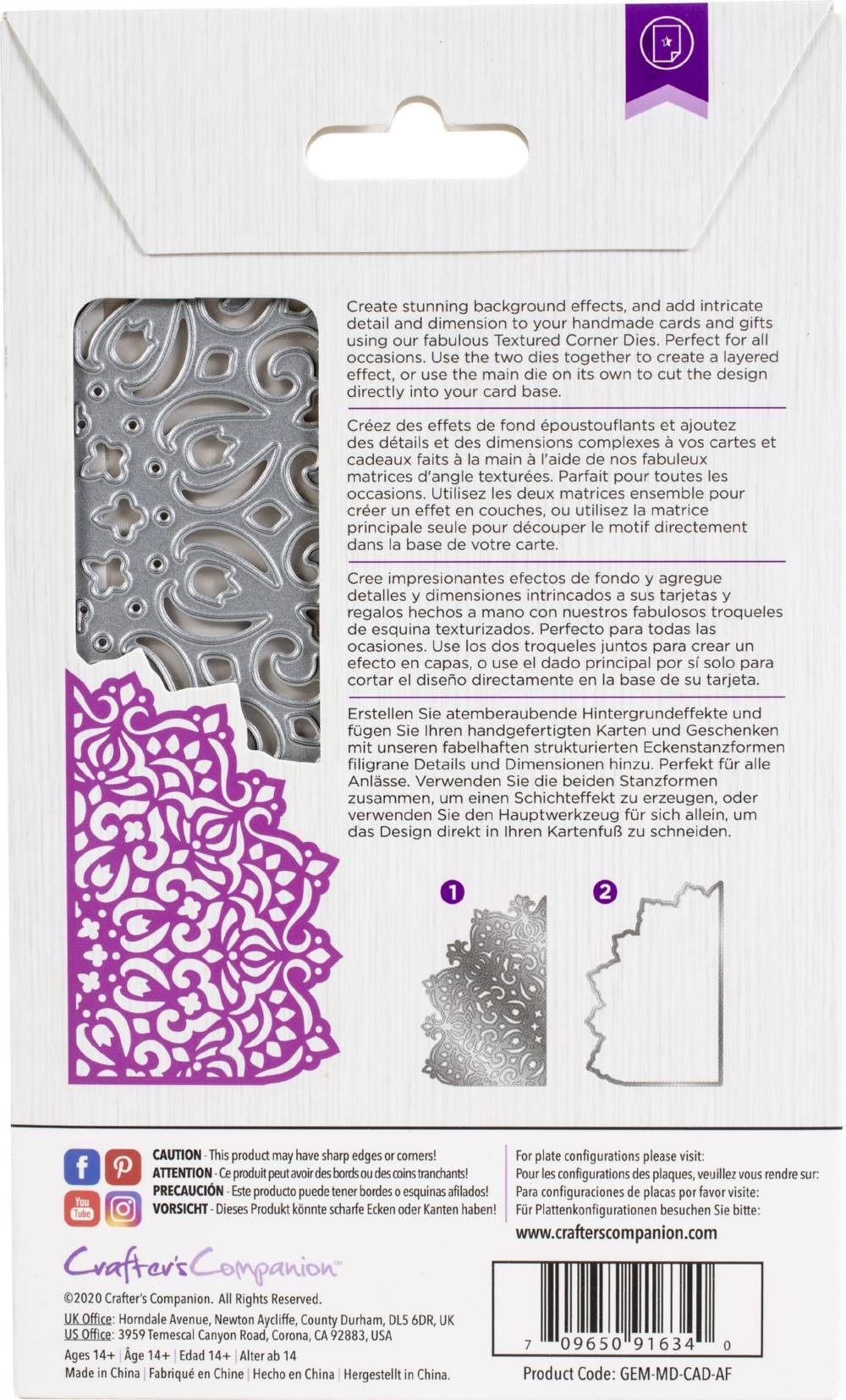 crafter s companion gemini create a card die abstract floral walmart com