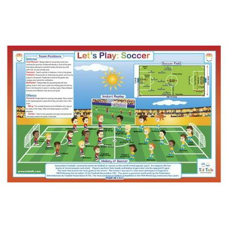 Placemat - Tot Talk - Let's Play: Soccer Meal Dinning Kids Mat tot1022 ()