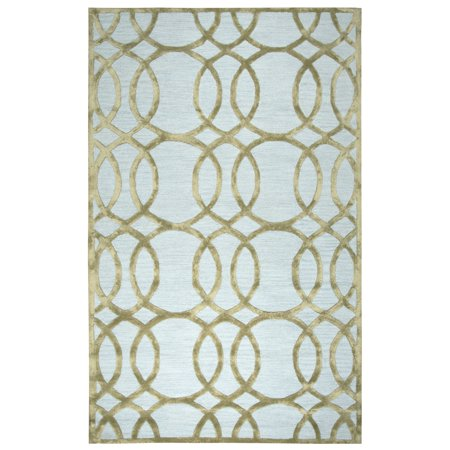 Rizzy Home Hand-tufted Madison Ivory/ Cream Wool and Viscose Geometric/ Trellis Runner Area Rug (2'6 x 8') - 2'6