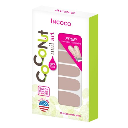 Coconut Nail Art by Incoco Nail Polish Strips,