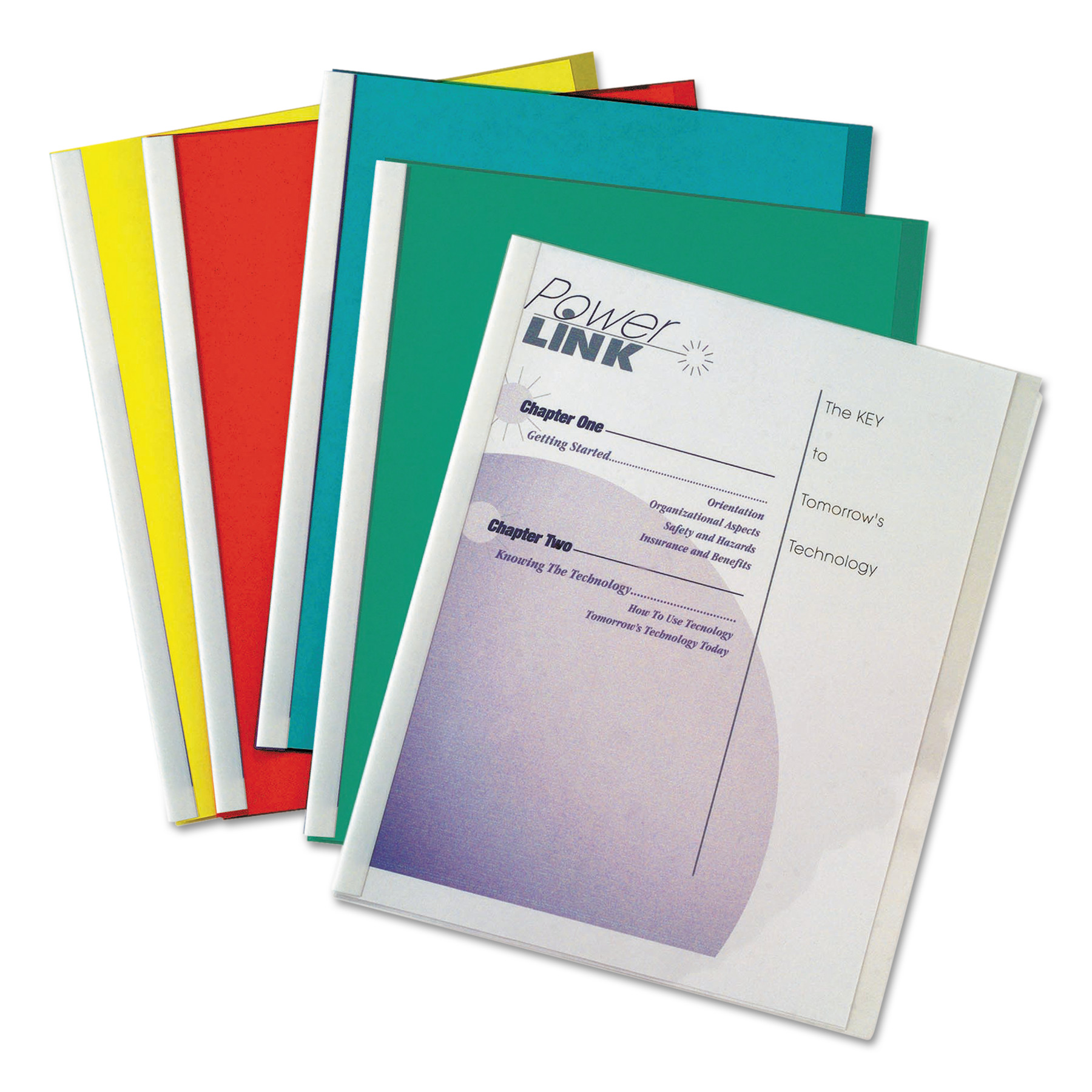 C-Line Report Covers with Binding Bars, Vinyl, Assorted, 8 1/2 x 11, 50/BX