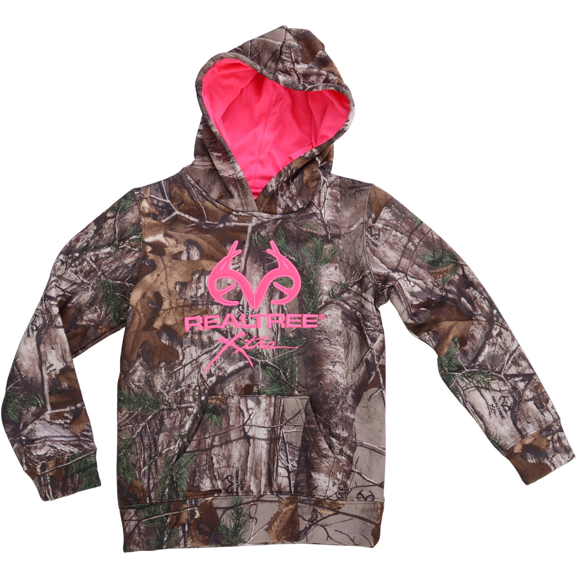 Realtree and Mossy Oak Girls Camo Performance Pullover Fleece ...
