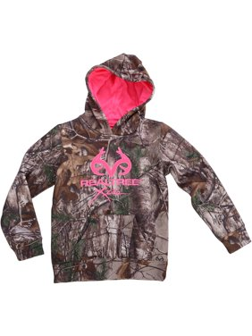 and Mossy Oak Girls Camo Performance Pullover Fleece Hoodie
