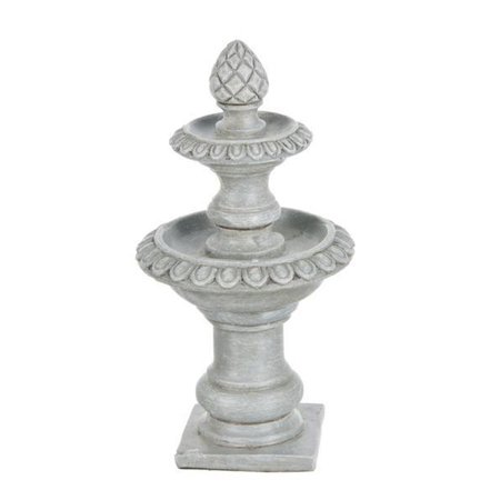 Miniature Double Bowl Fountain Figurine - By Ganz Double Contact Index Base Miniature