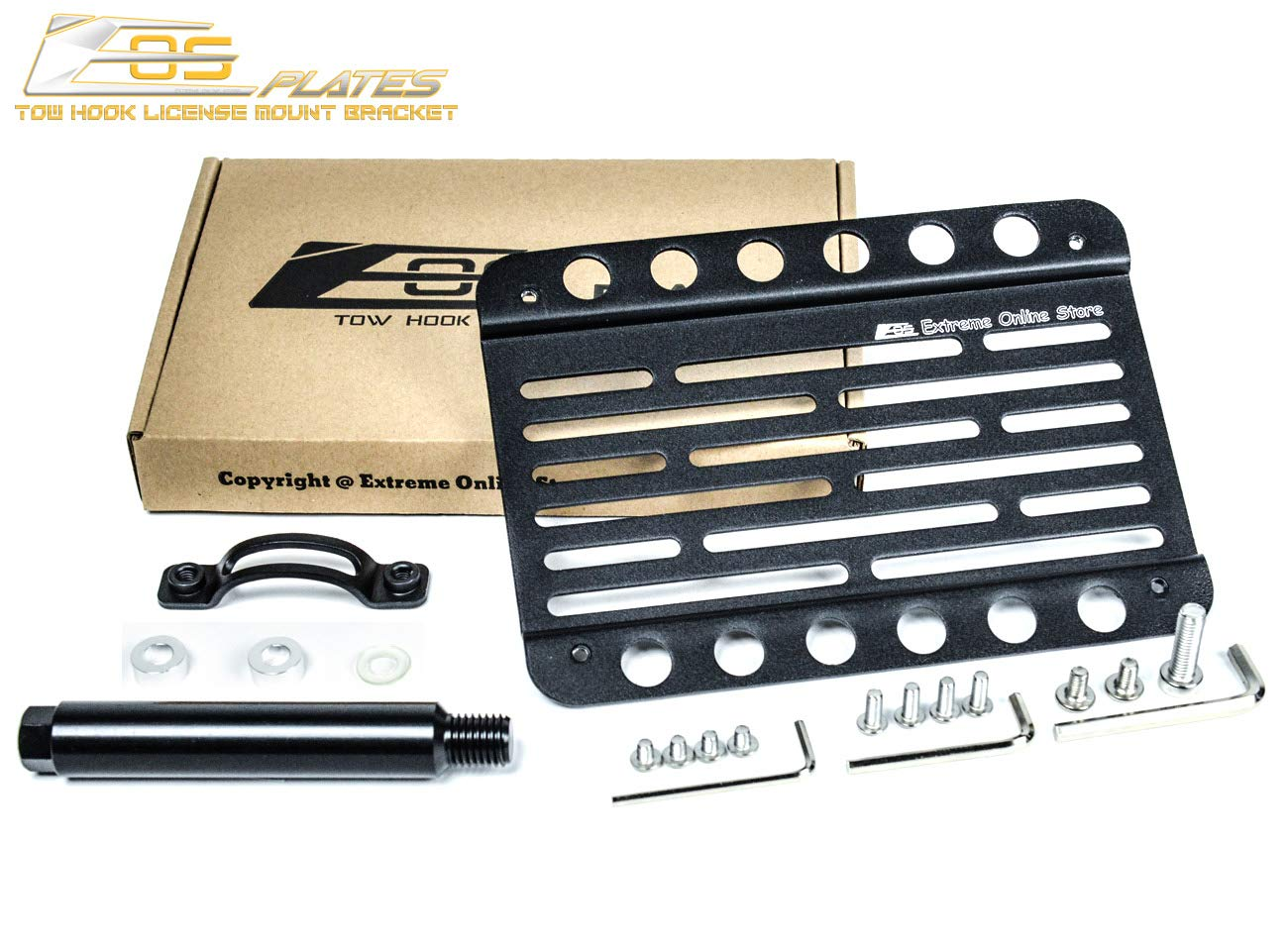 EOS Full Sized Front Tow Hook License Plate Bracket For 2015-2018 Cayenne 958.2