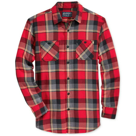 American Rag Mens Plaid Flannel Button Up Shirt