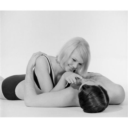 Posterazzi SAL255417824 Young Semi-Dress Couple Lying on Floor Poster Print - 18 x 24 in. - image 1 of 1