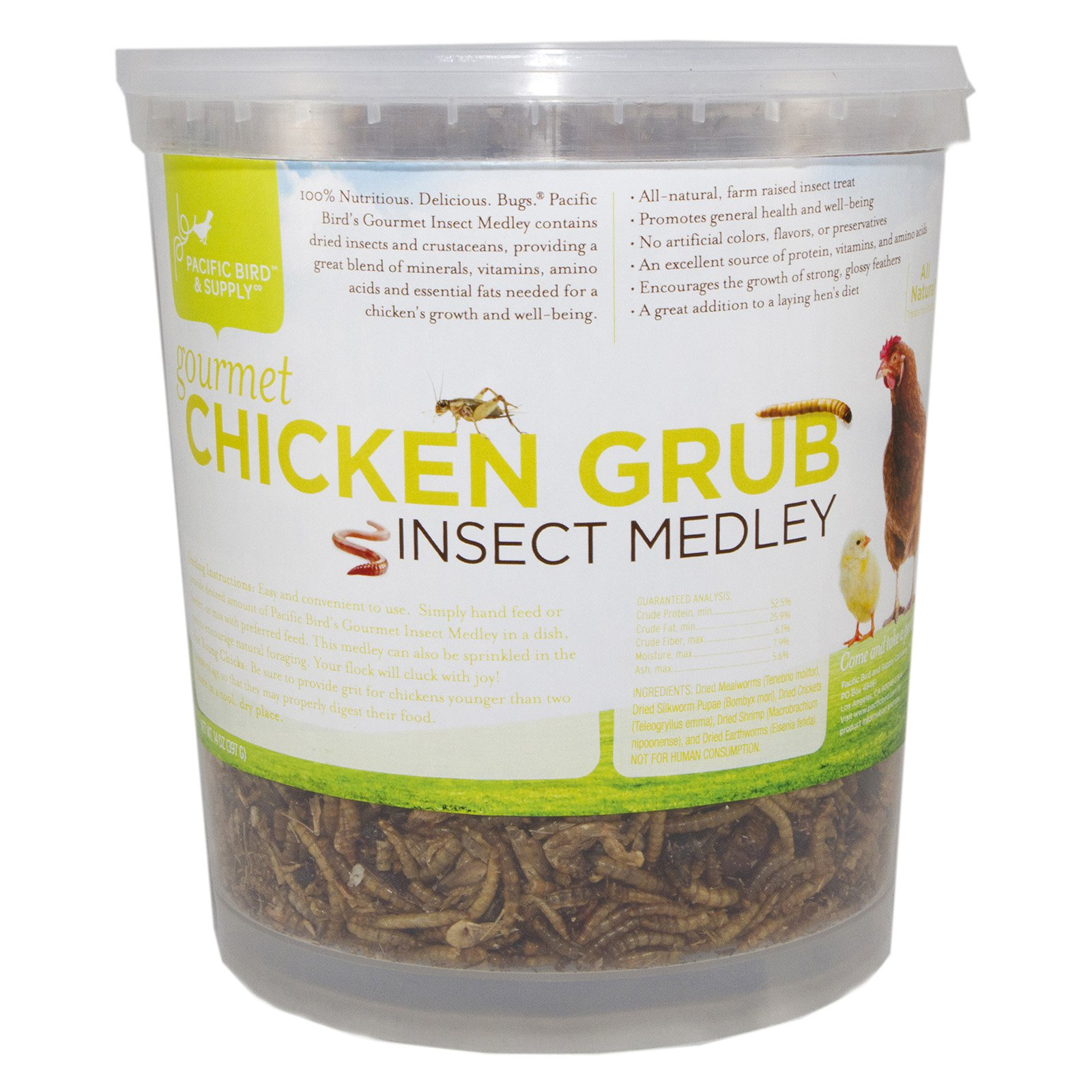 Pacific Bird & Supply PB-0064 14 oz Gourmet Chicken Grub Insect