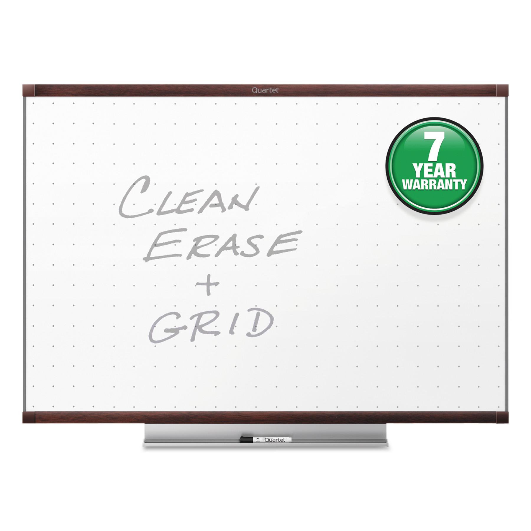 Quartet Prestige 2 Total Erase Whiteboard, 48 x 36, Mahogany Color Frame -QRTTE544MP2