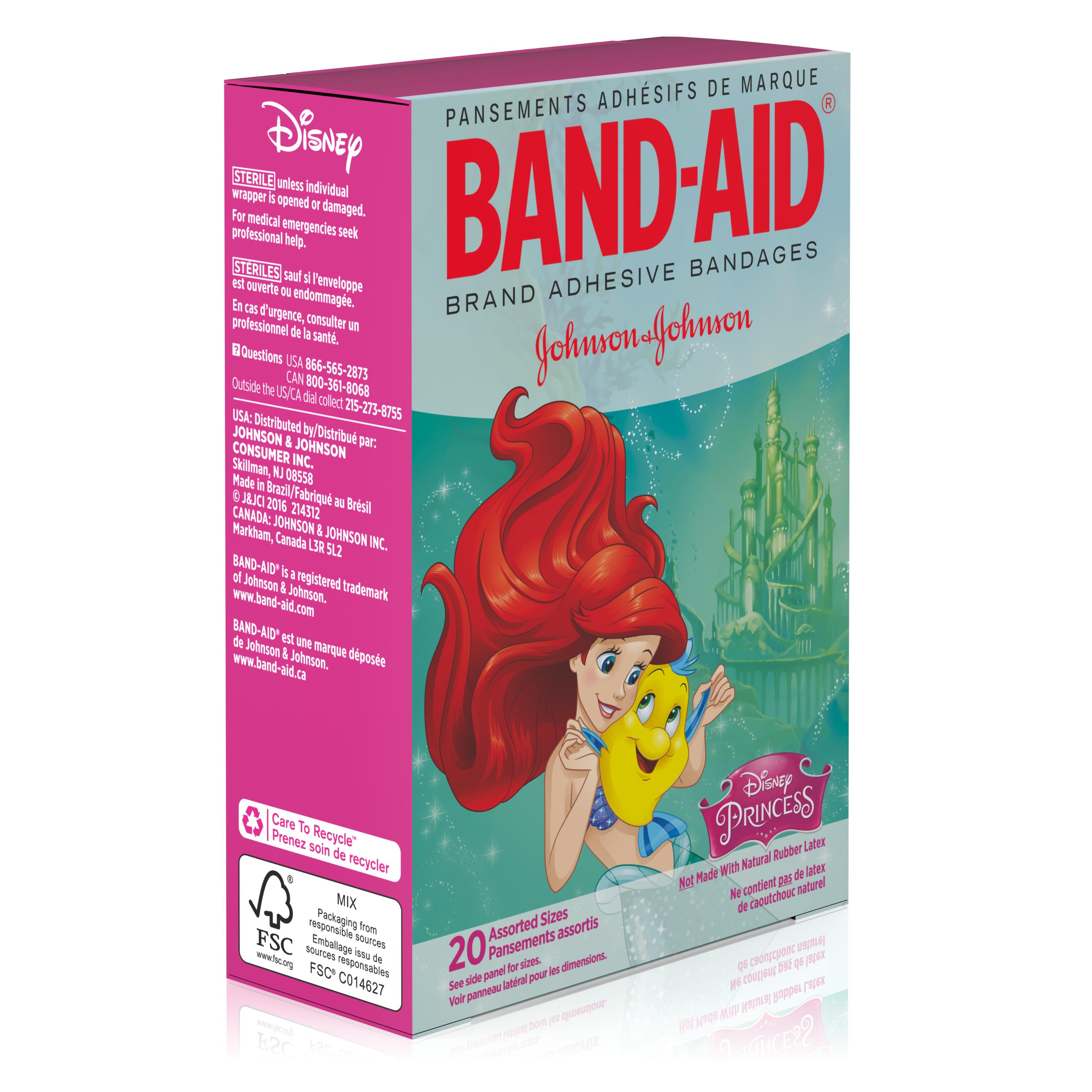 band aid adhesive bandages disney princesses assorted sizes 20 ct