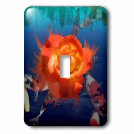 3dRose Koi Fish Pond, Single Toggle Switch