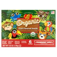 Jelly Belly Organic Fruit Snacks Rainforest Animals Strawberry Apple 4.8 oz Box