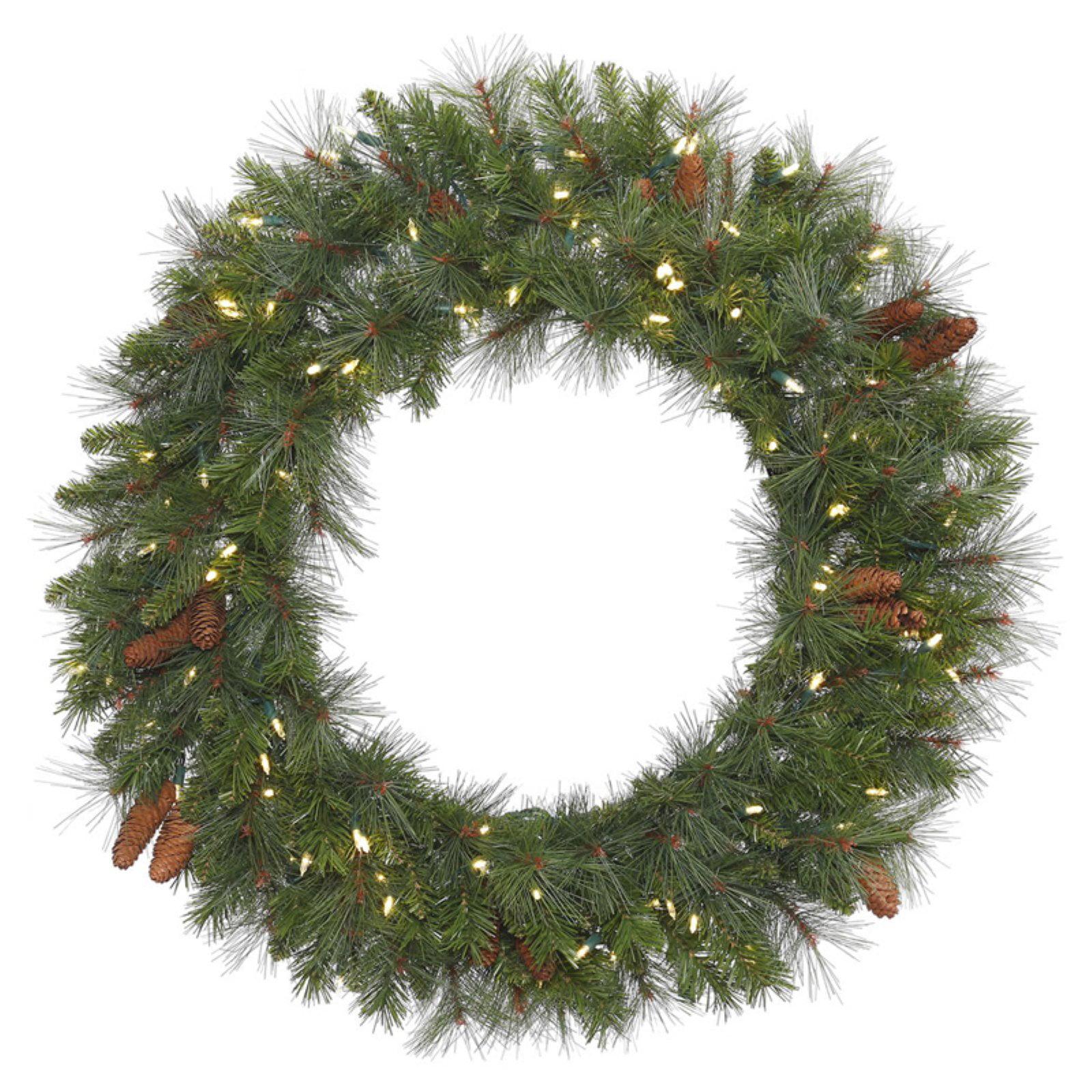 "Vickerman 48"" Savannah Mixed Wreath 200LED Warm White"