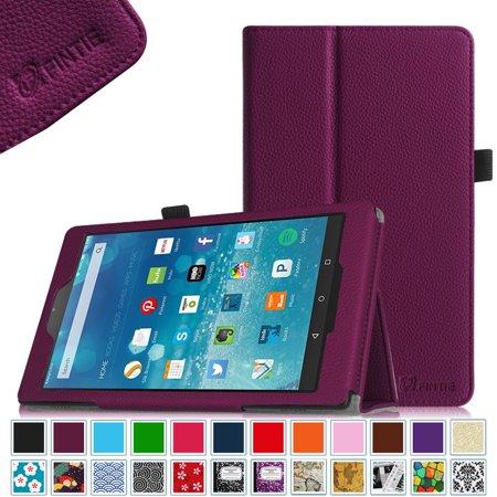 Fire HD 8 Case, Fintie Premium Vegan Leather Folio Cover with Auto Wake / Sleep for Amazon Fire HD 8 2015, Purple Eco Conscious Leather Folio
