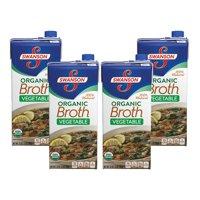 (3 Pack) SwansonOrganic Vegetable Broth, 32 oz. Carton