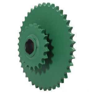 - John Deere Round Baler Lower Drive Roll Double Sprocket 20/40 Tooth Part No: A-AE39652