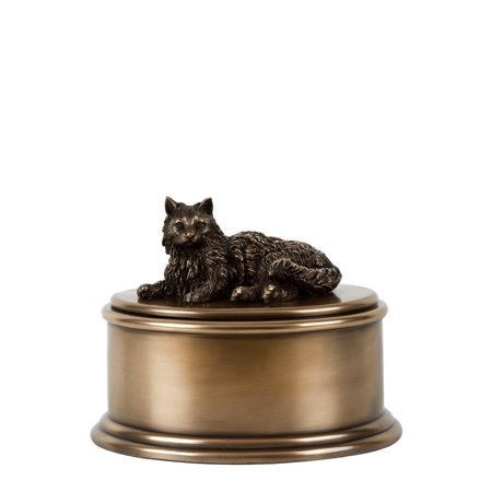 Figurine Cremation Urns - Perfect Memorials Long Hair Cat Figurine Cremation Urn