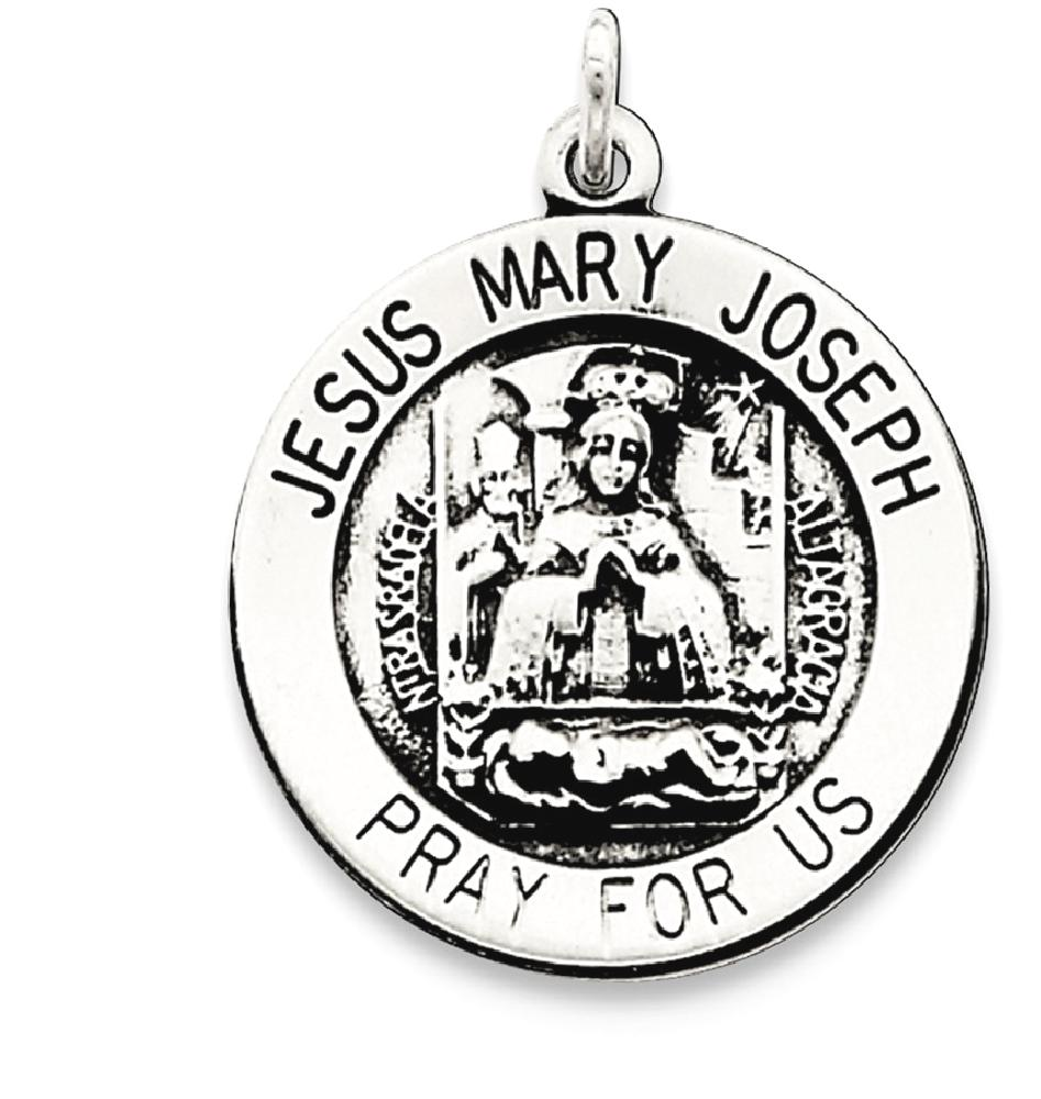 IceCarats 925 Sterling Silver Holy Family Medal Pendant Charm Necklace  Religious Jesus Mary Joseph