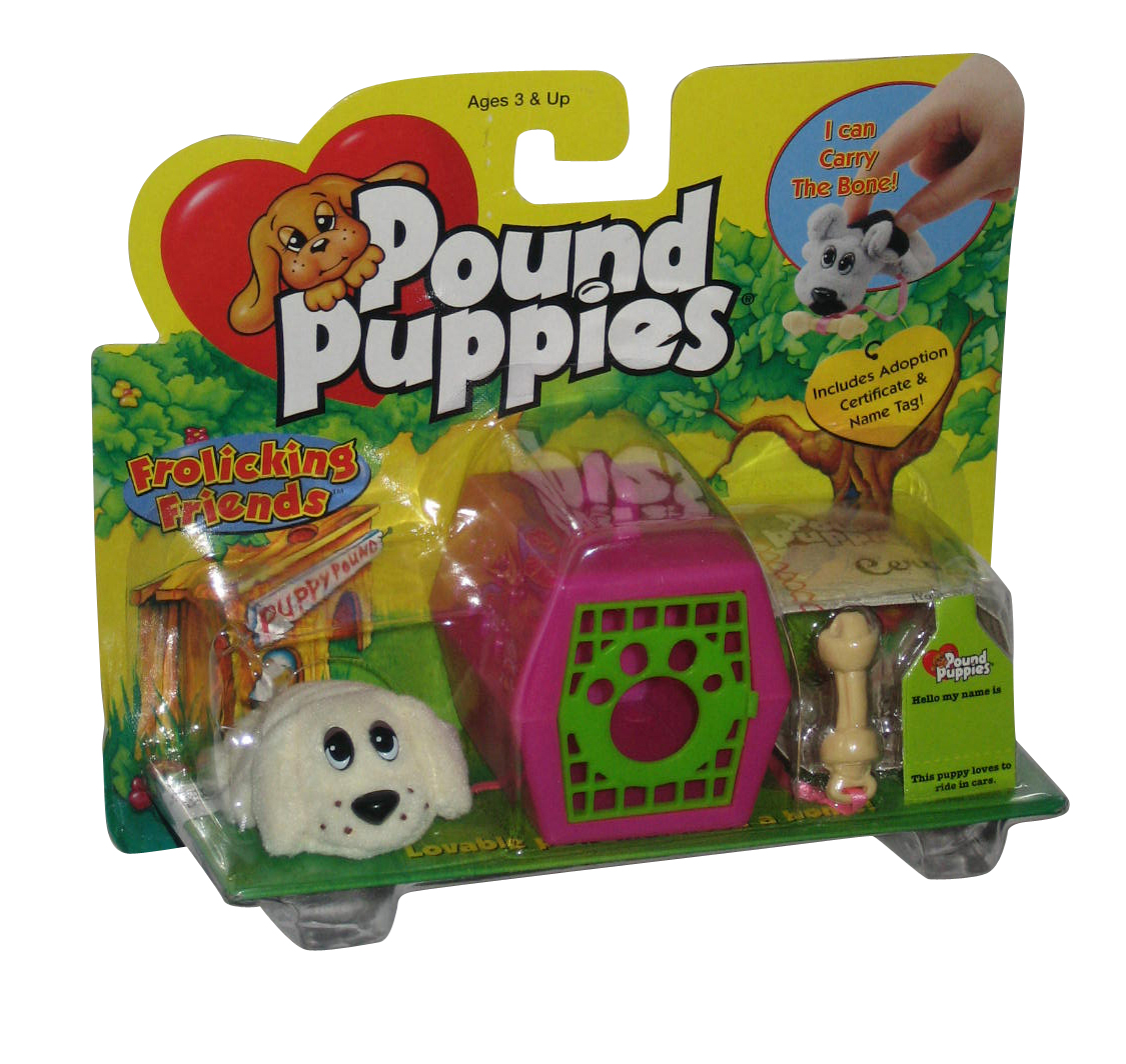 Pound Puppies Galoob (1999) Vintage Toy Plush Set