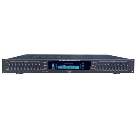 Pylepro   Ppeq100   19   Rack Mount Dual 10 Band 4 Source Input Stereo Spectrum Graphic Equalizer