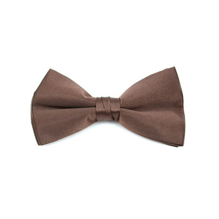 Men's Pre-tied Clip On Bow Tie - Formal Tuxedo Solid Color - Green Muscle Suit
